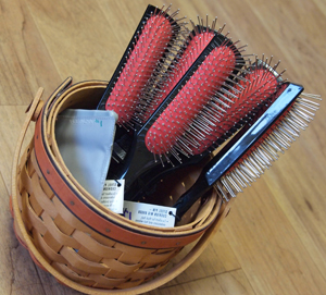 Hair brushes at JT Techniques in New Prague, MN