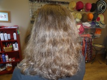 Hair before straightening procedure at JT Techniques