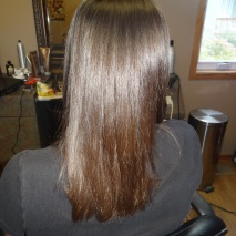 Brazilian blowout hair straightening at JT Techniques.