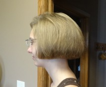 Side view of haircut.