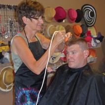 Men's buzz cuts at JT Techniques in New Prague